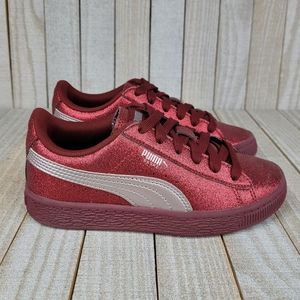 Puma Basket Glitter Sneakers Childrens Size 13.5